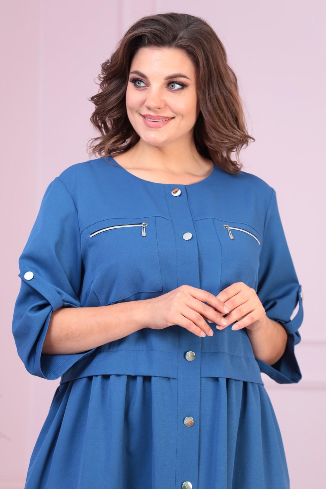 Платье AnastasiaMAK 819 синий