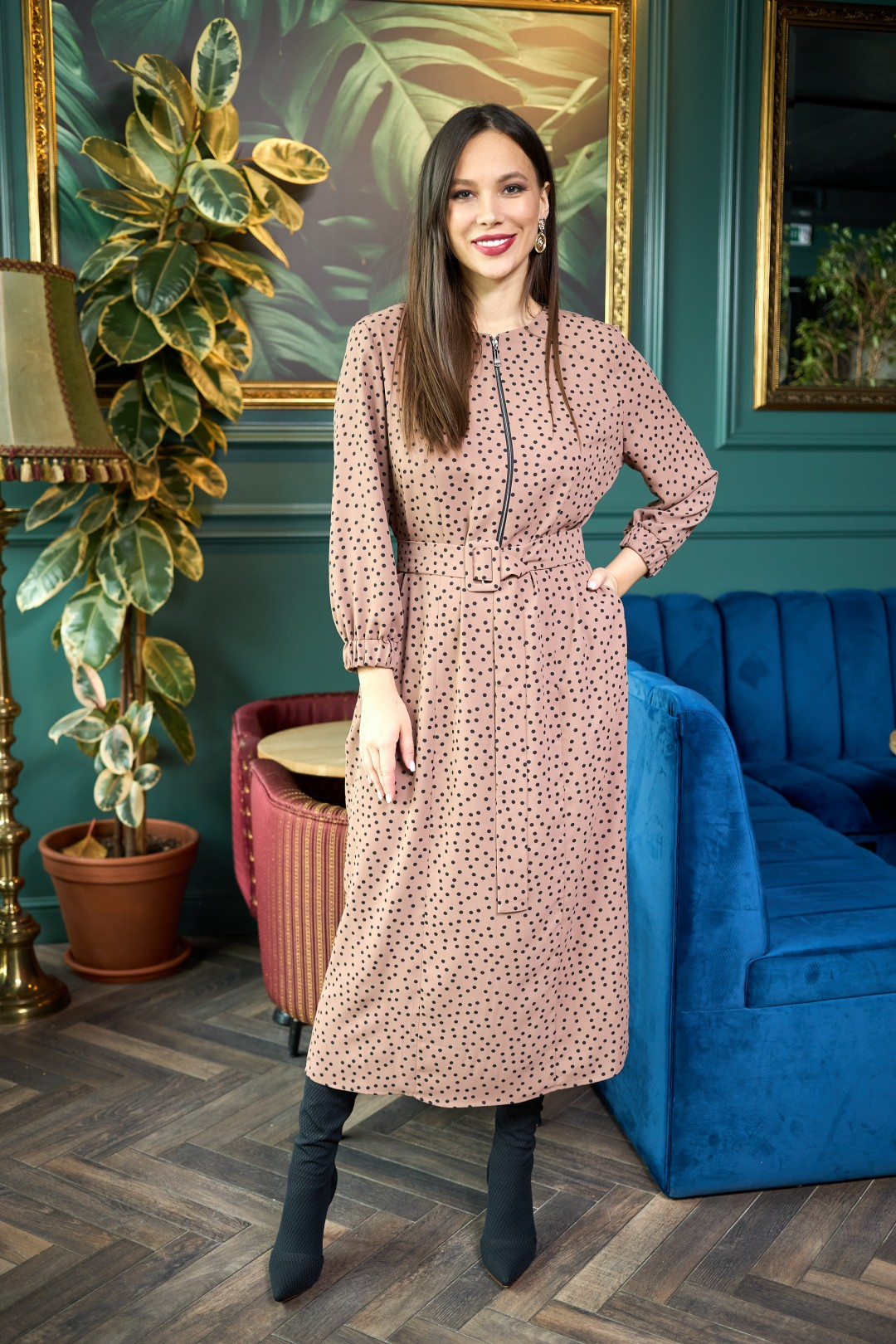 Платье AnastasiaMAK 903 коричневый