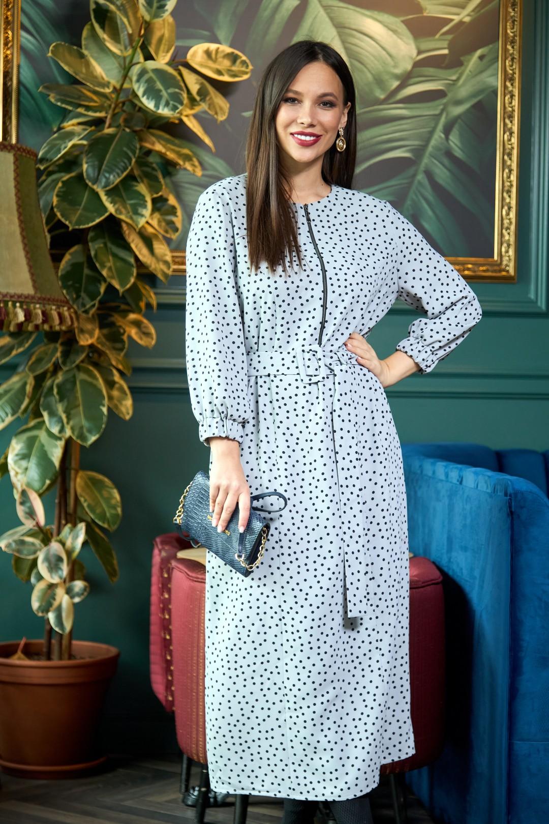 Платье AnastasiaMAK 903 серый