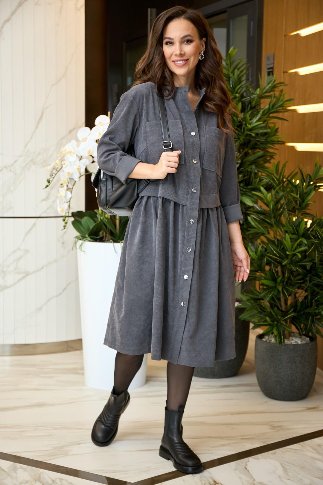 Платье AnastasiaMAK 938 серый