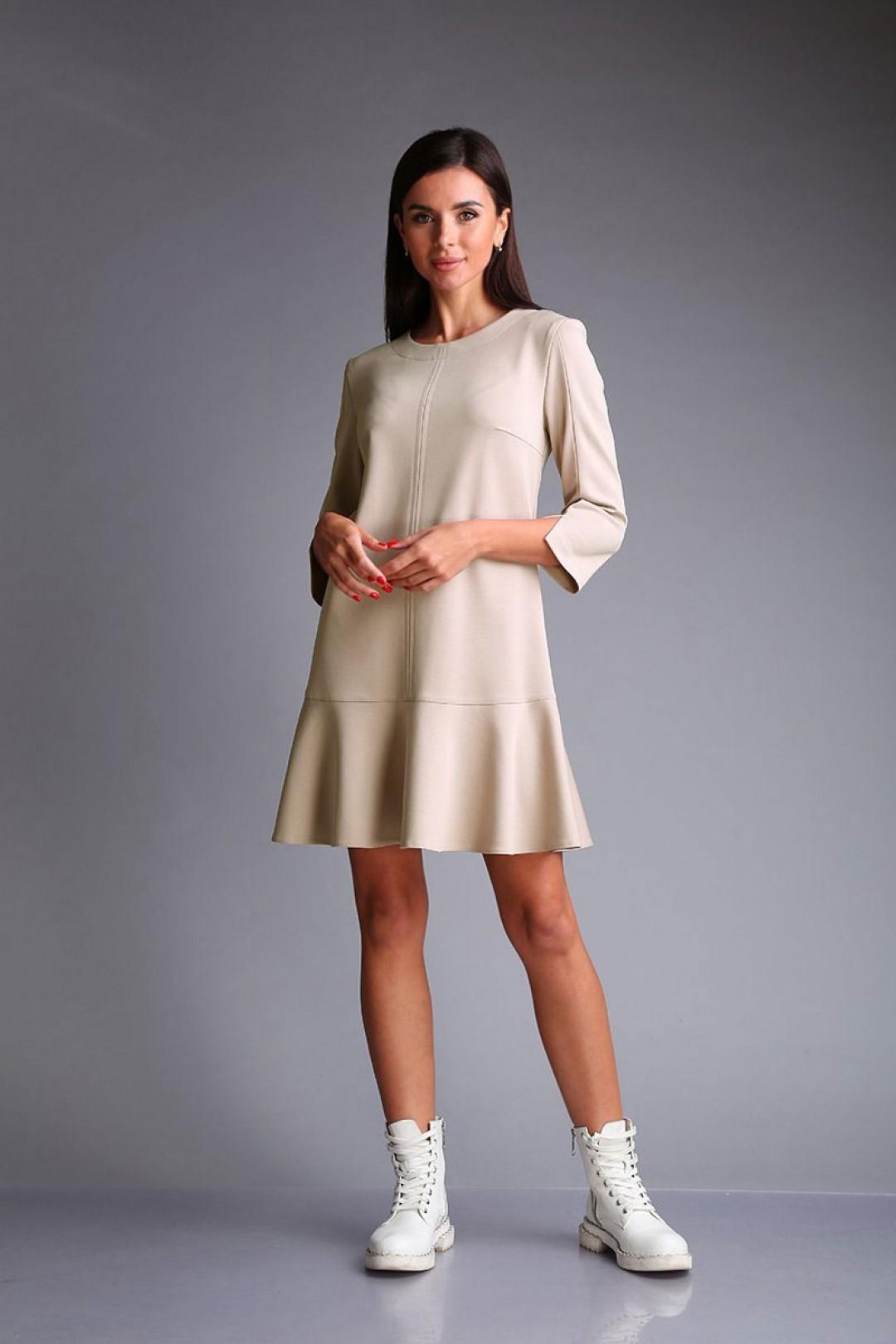 Платье Andrea Fashion AF-173 кремовый