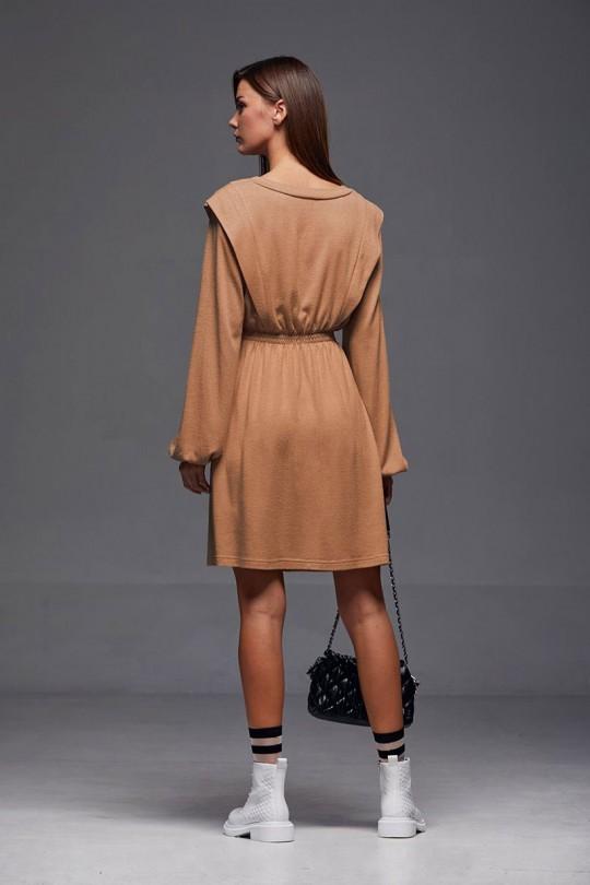 Платье Andrea Fashion AF-186 кэмел