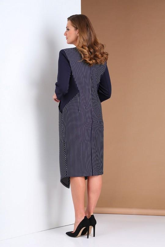 Платье AndreaStyle 0402 синий