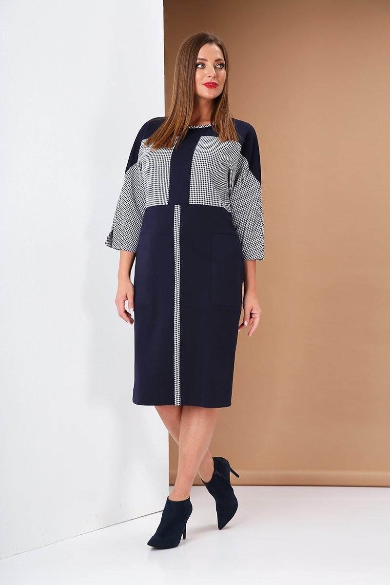 Платье AndreaStyle 0405 синий