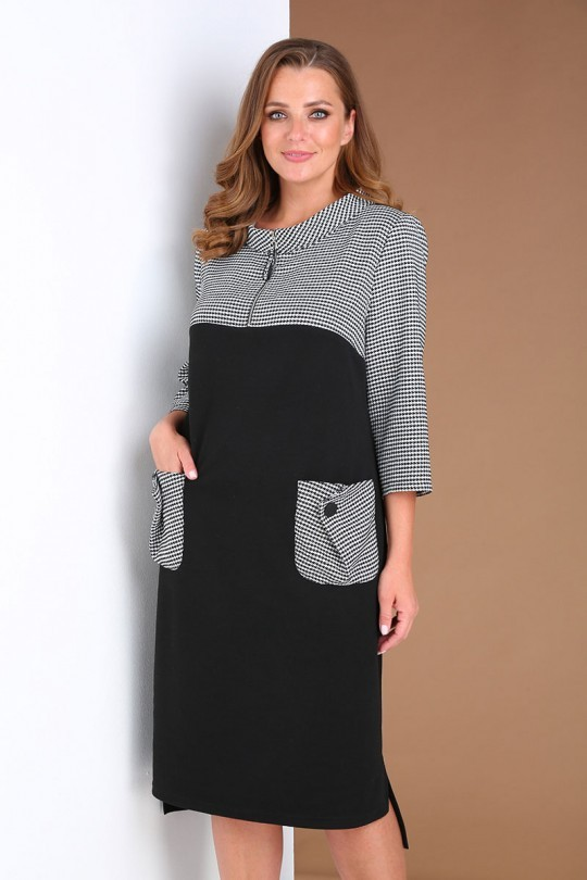 Платье AndreaStyle 0407 черный