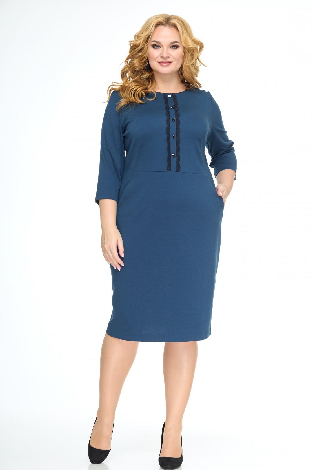 Платье Anelli 552 темная лазурь