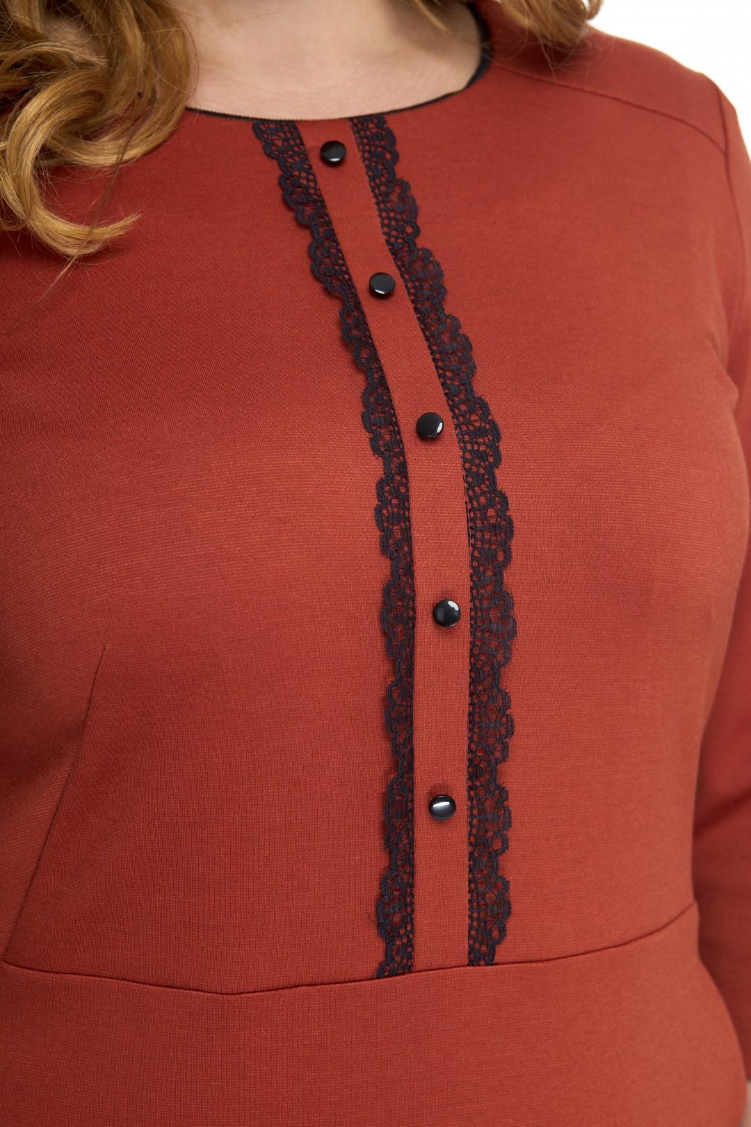 Платье Anelli 552 терракот