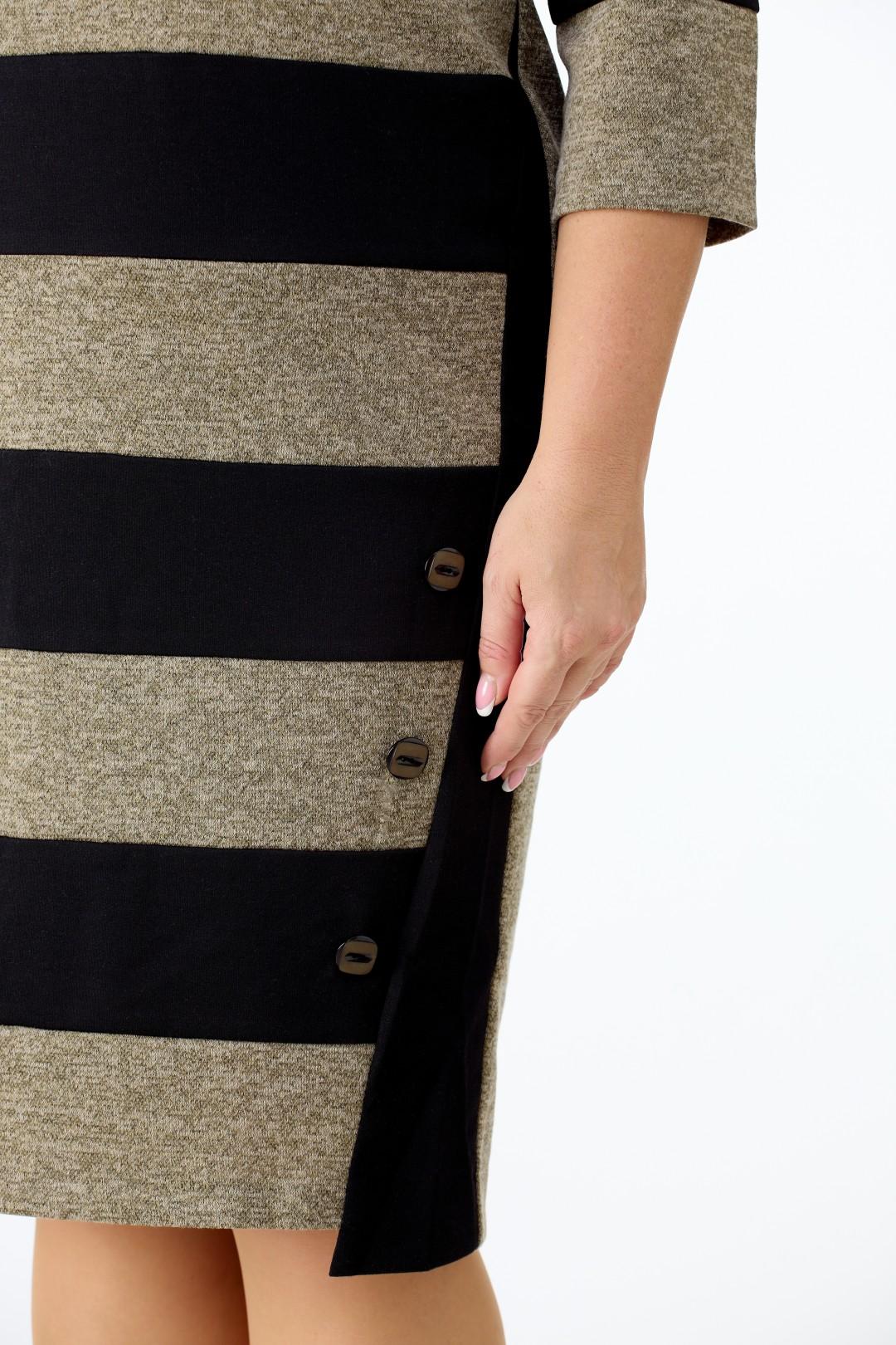 Платье Anelli 945 бежево-черный