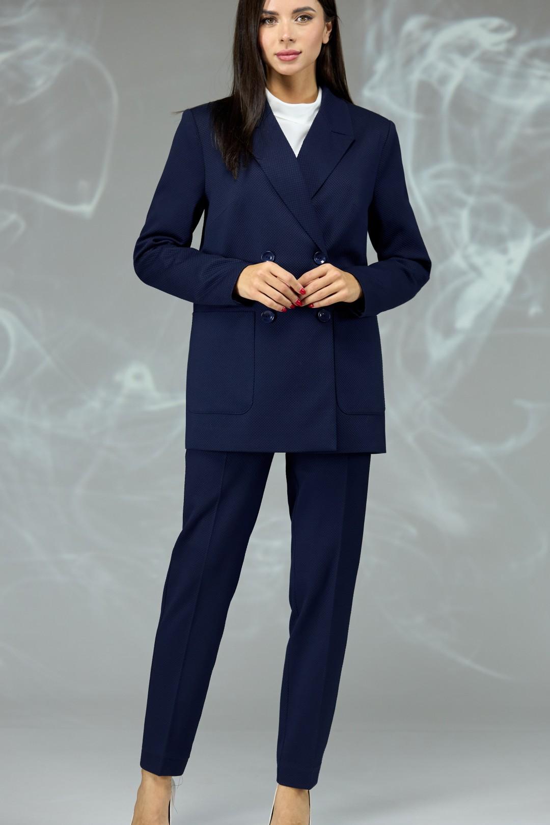 Костюм Angelina & Company 596с темно-синий мелкая ячейка