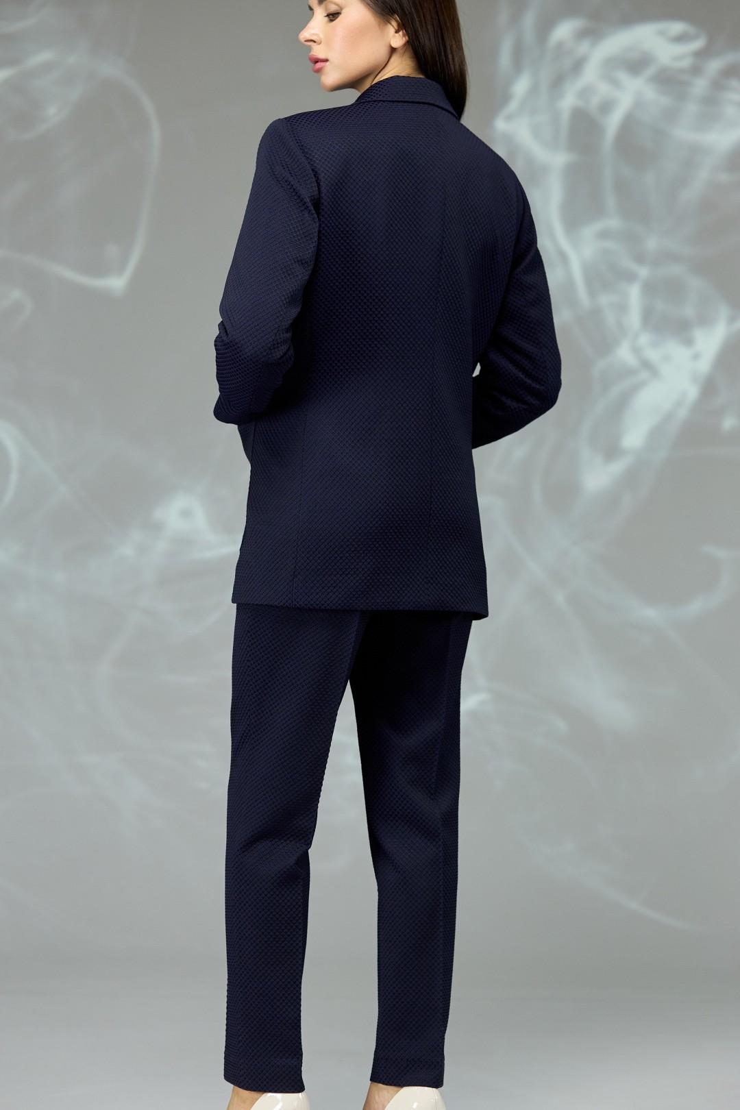Костюм Angelina & Company 596т темно-синий крупная ячейка