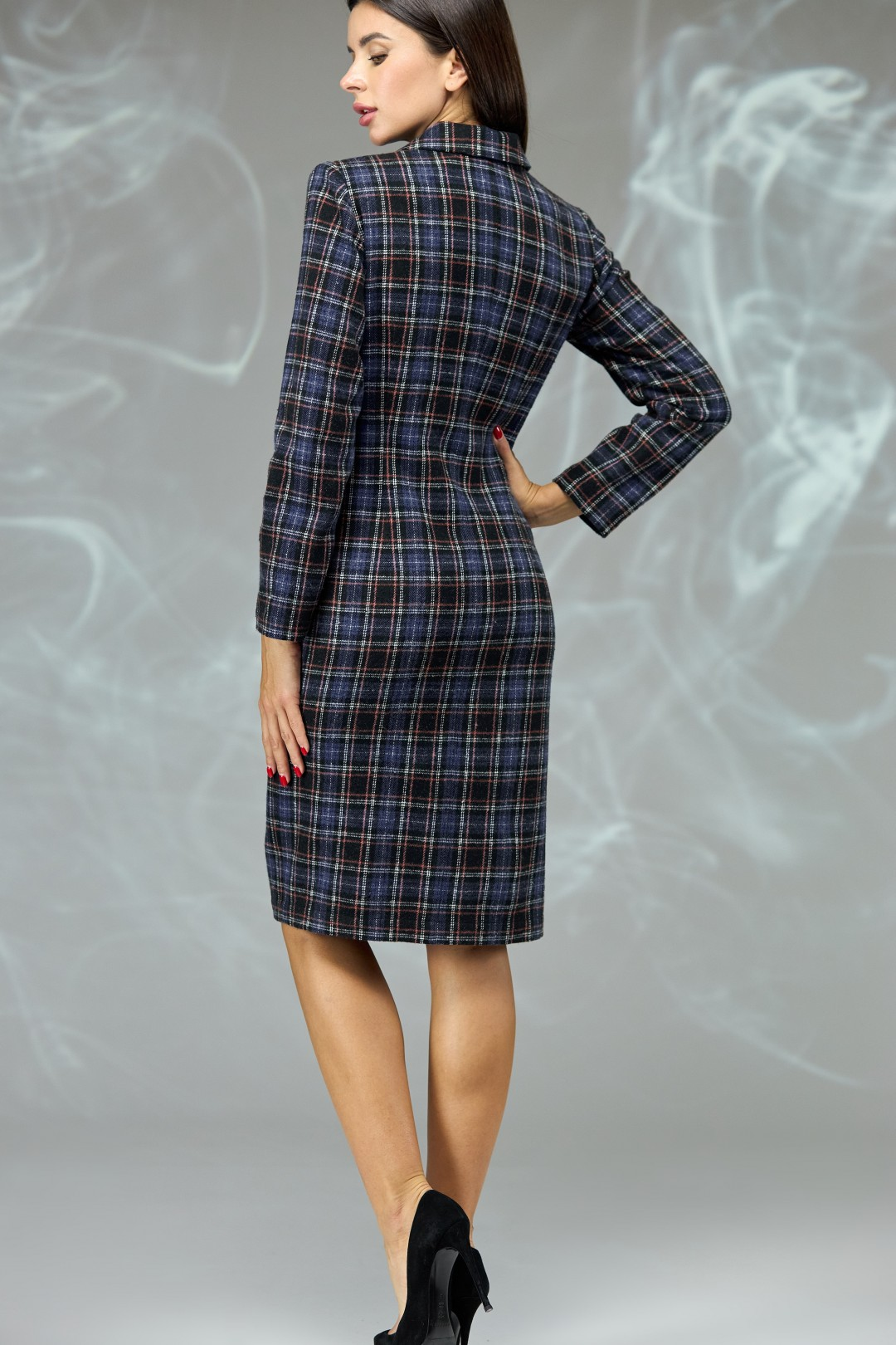 Платье Angelina & Company 599s синяя клетка