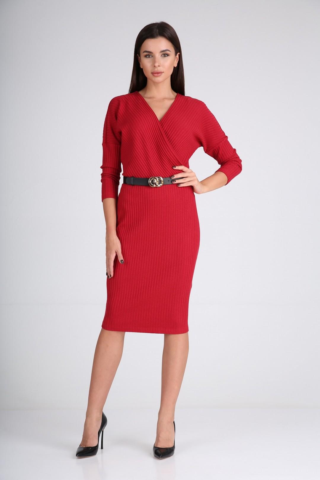 Платье Diomant 1723 красное