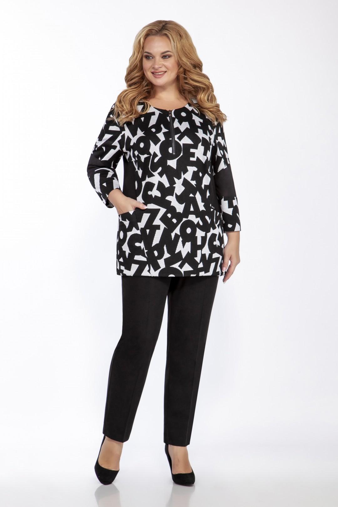 Блуза EMILIA STYLE 2100 черный принт