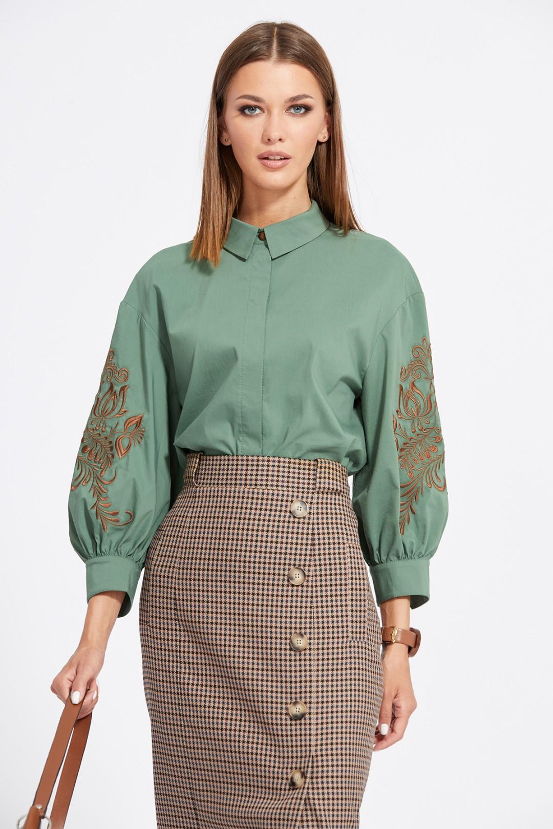 Блуза Эола Стиль 2066 хаки
