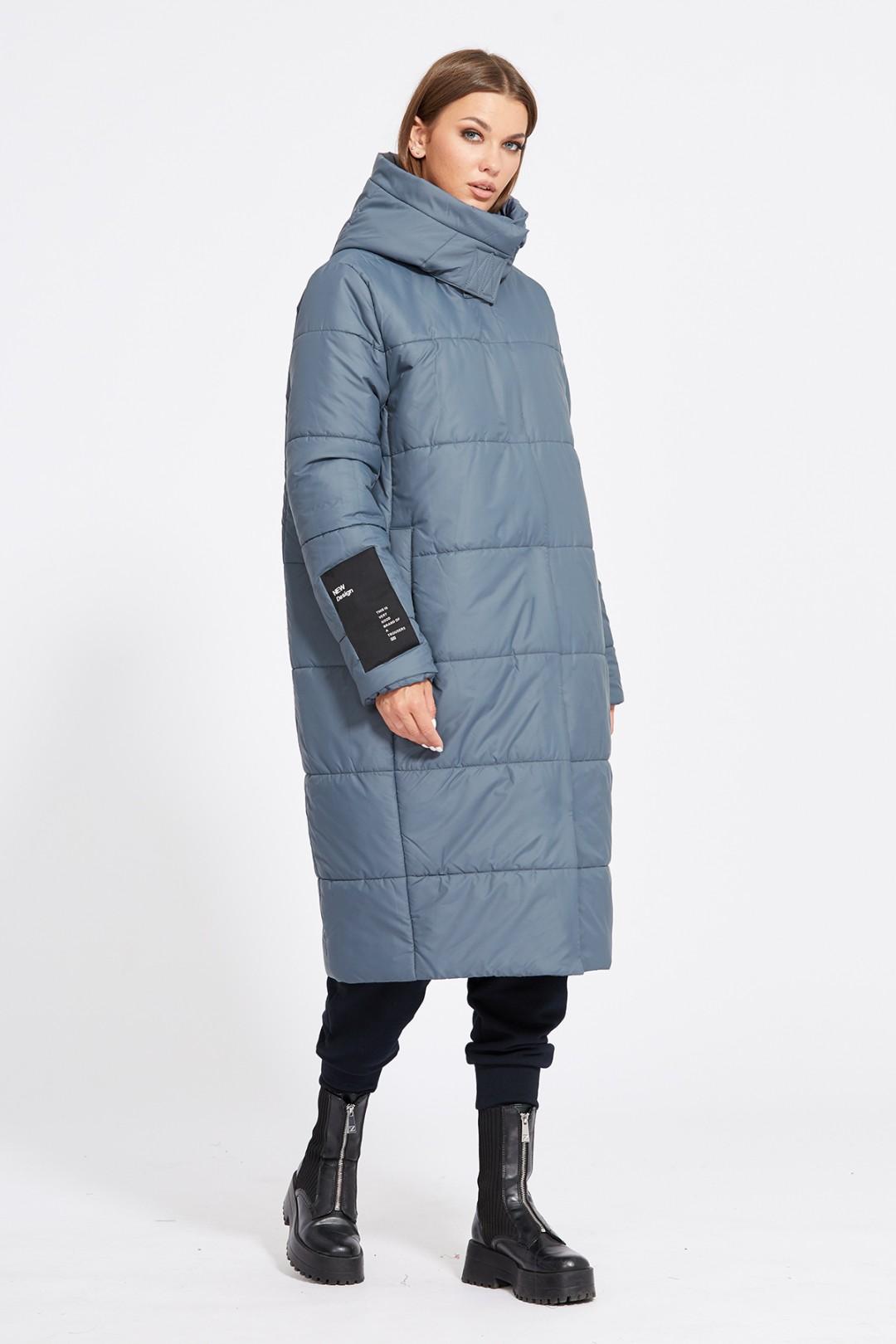 Пальто Эола Стиль 2079 серо-синий