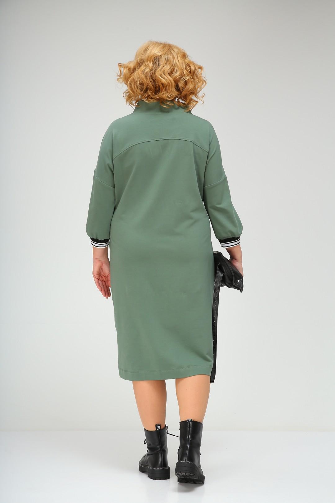 Платье Ивелта плюс ИВ-1758/1 зеленый