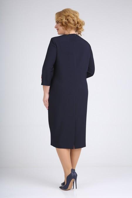 Платье Ивелта плюс ИВ-1775 темно-синий