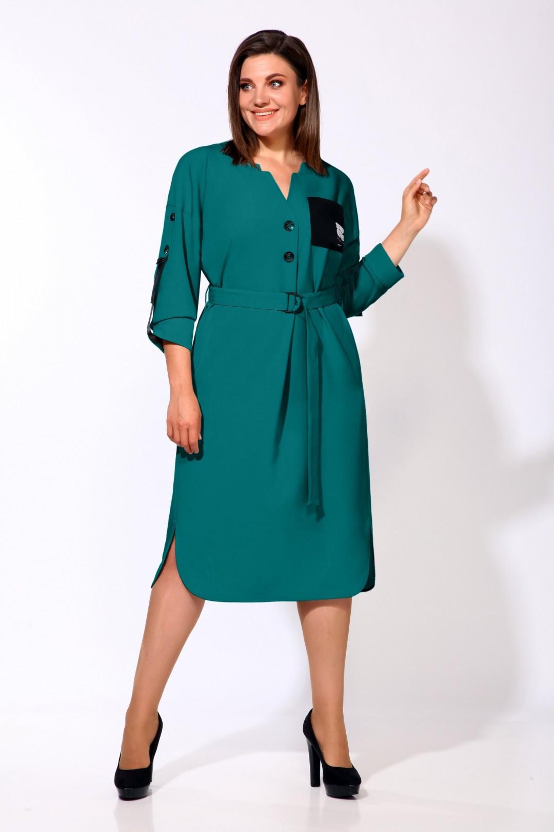 Платье Карина Делюкс М-9903/2 бирюза