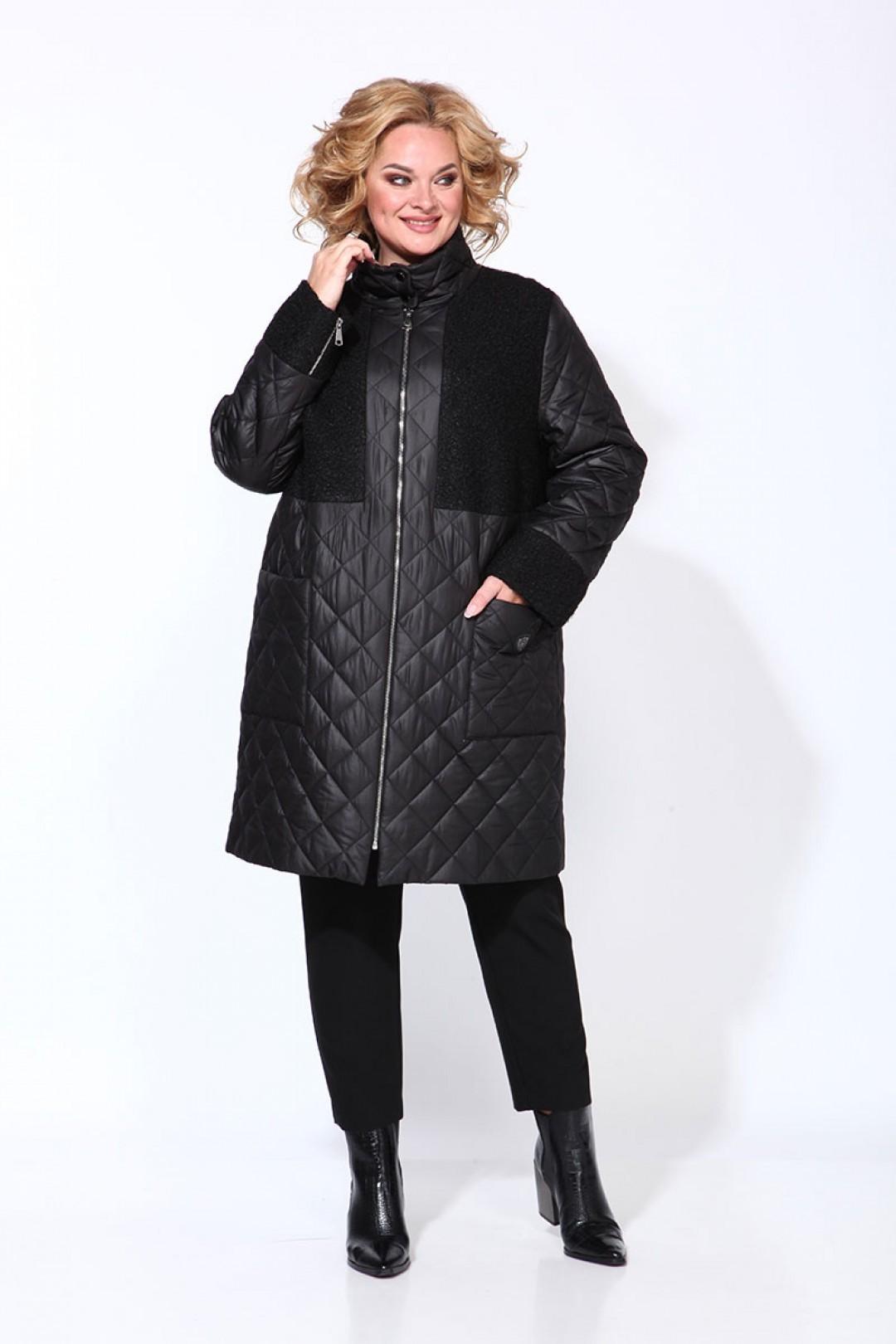Пальто Карина Делюкс М-9908 черный