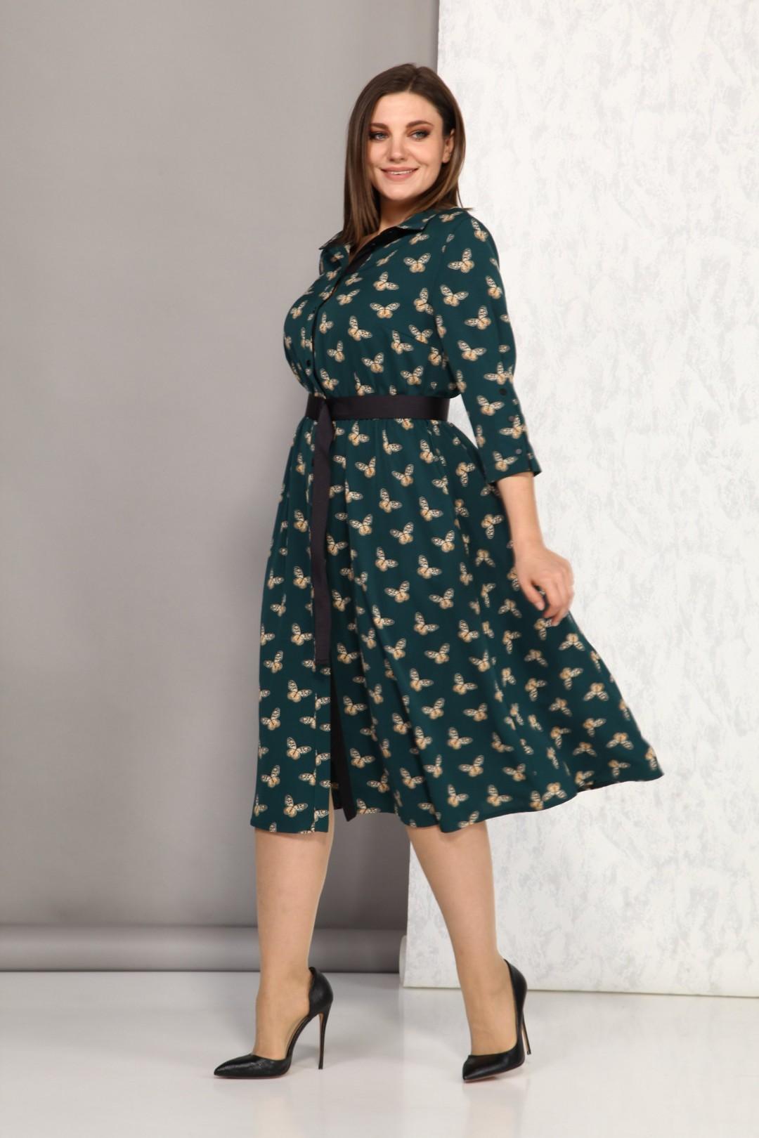 Платье Карина Делюкс М-9909/1 зеленый