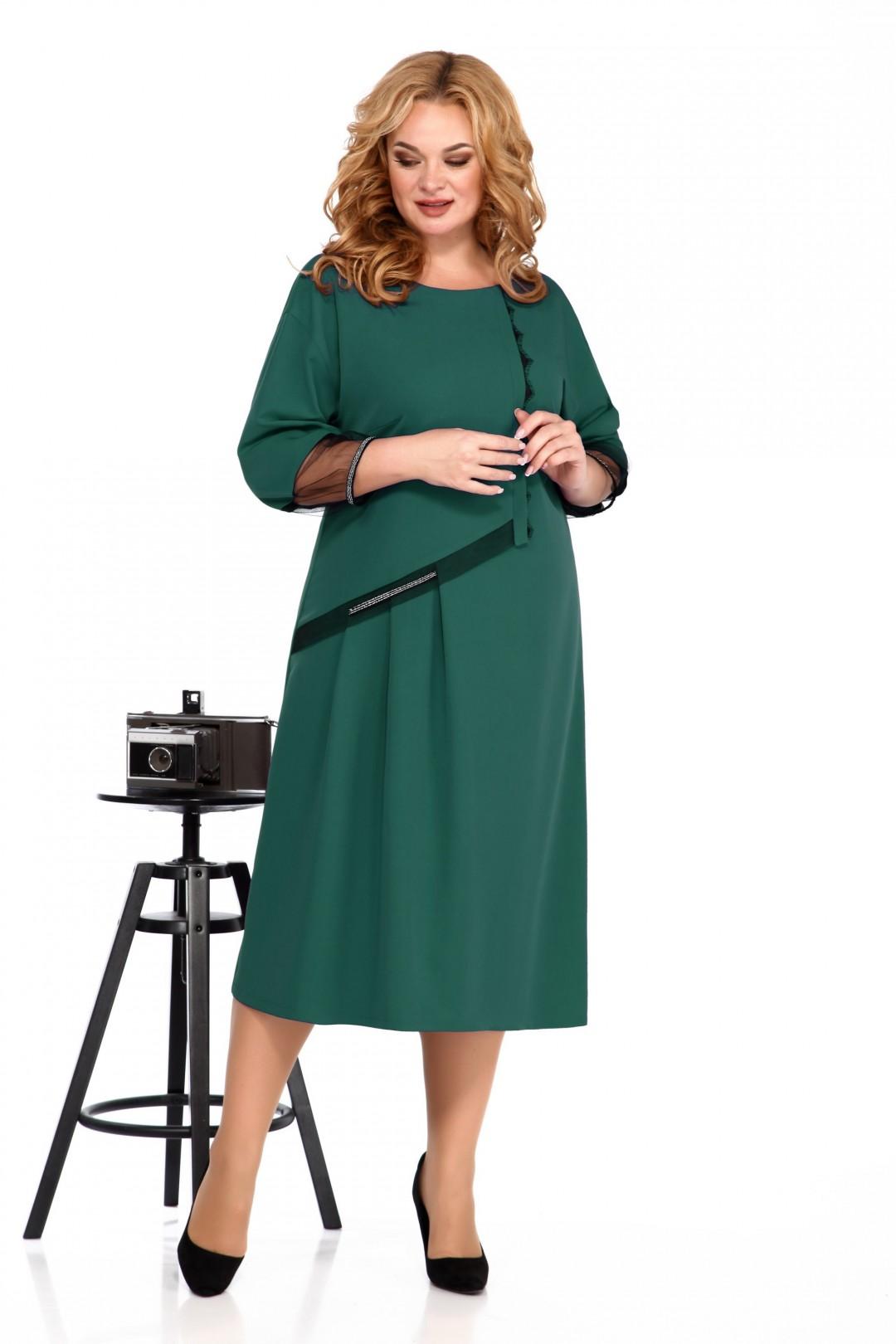 Платье Карина Делюкс М-9932А изумрудный