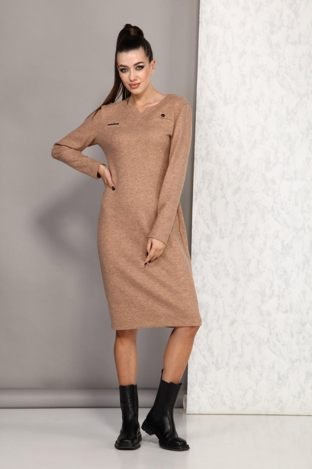 Платье Карина Делюкс М-9948А кэмел