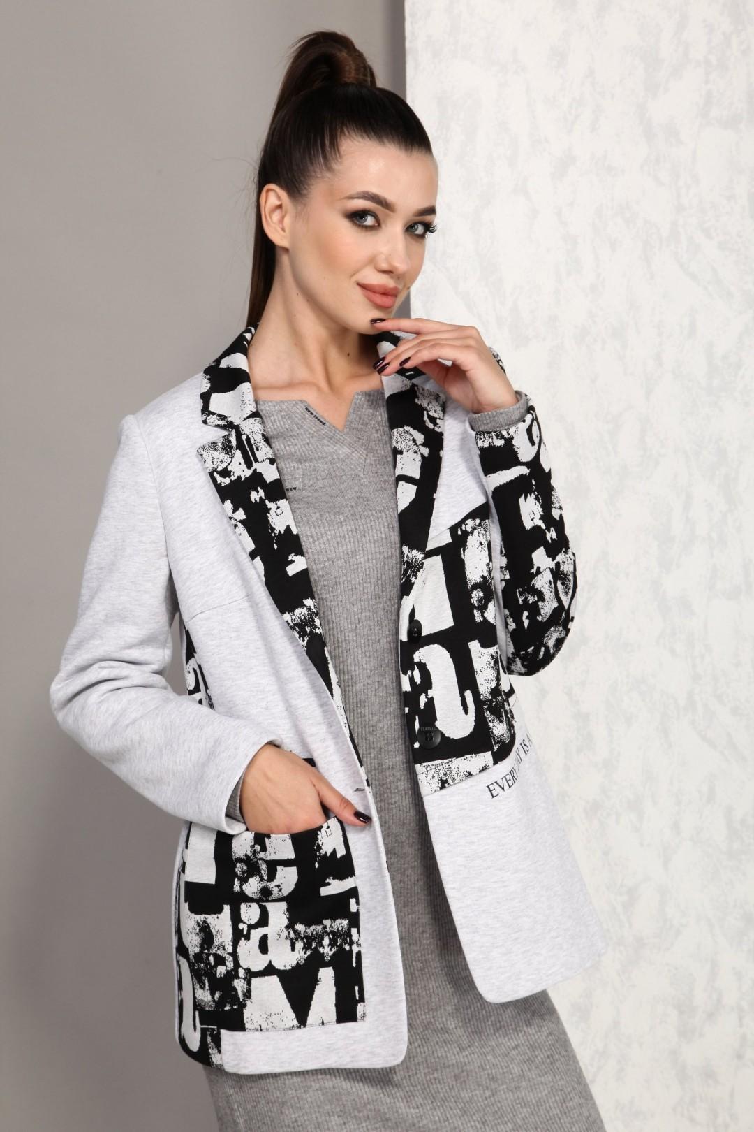 Жакет Карина Делюкс М-9952 серый