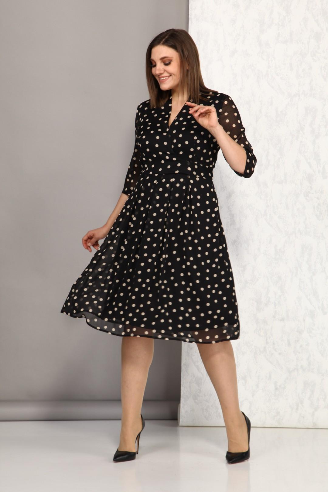 Платье Карина Делюкс В-240А черный