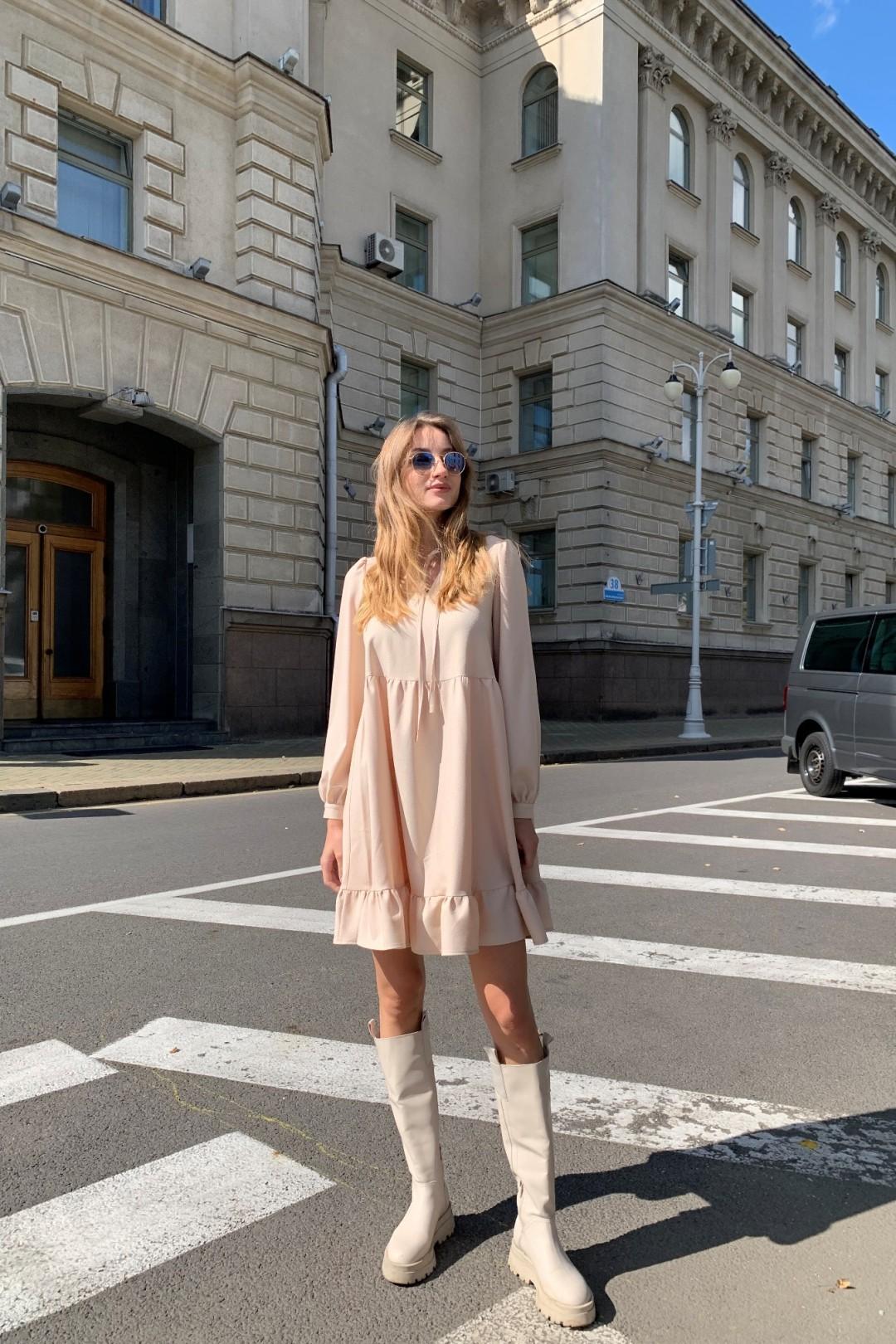 Платье KRASA 280-21 молочный