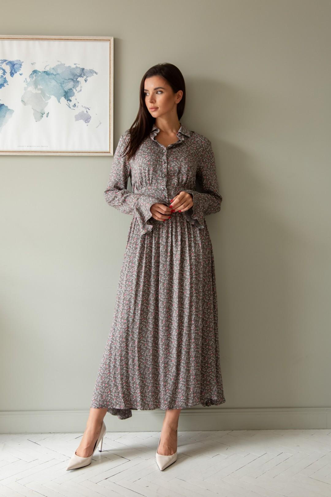 Платье ЛадисЛайн 1382 хаки