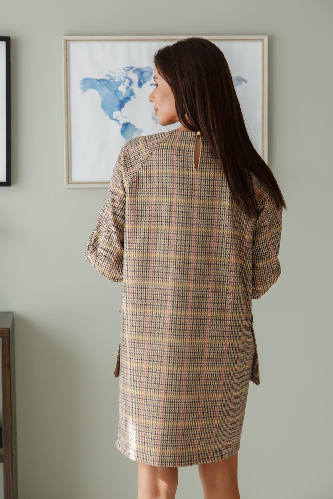 Платье ЛадисЛайн 1403 клетка