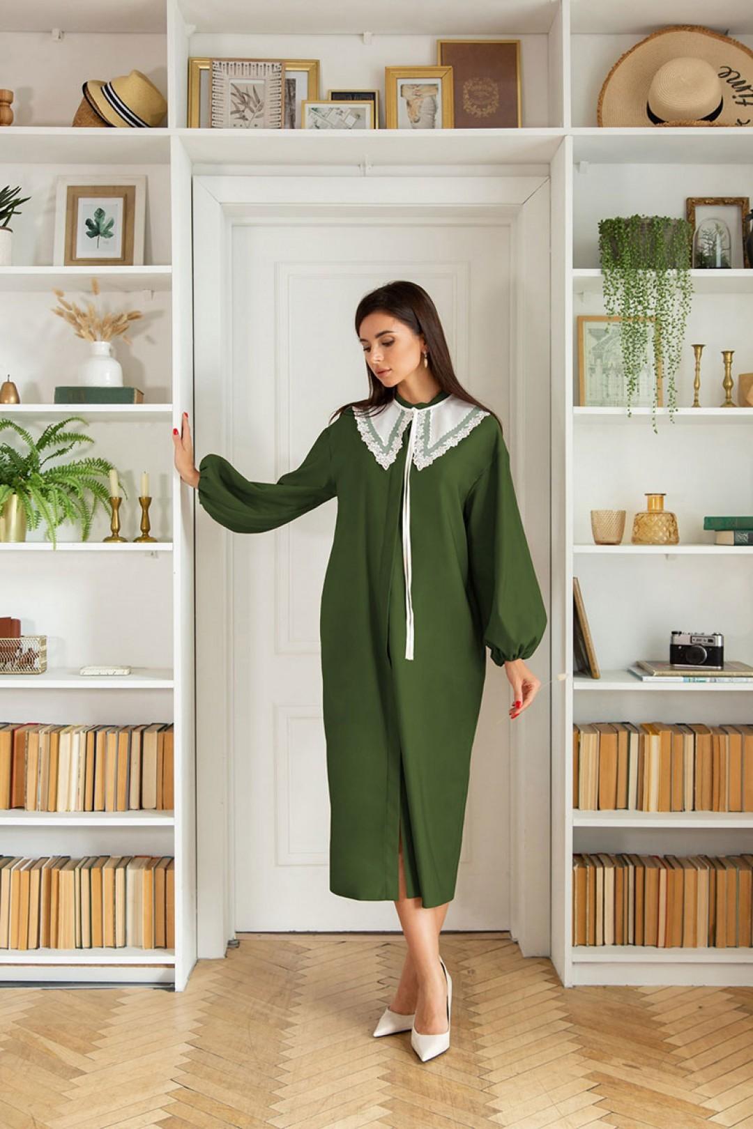 Платье ЛадисЛайн 1404 хаки