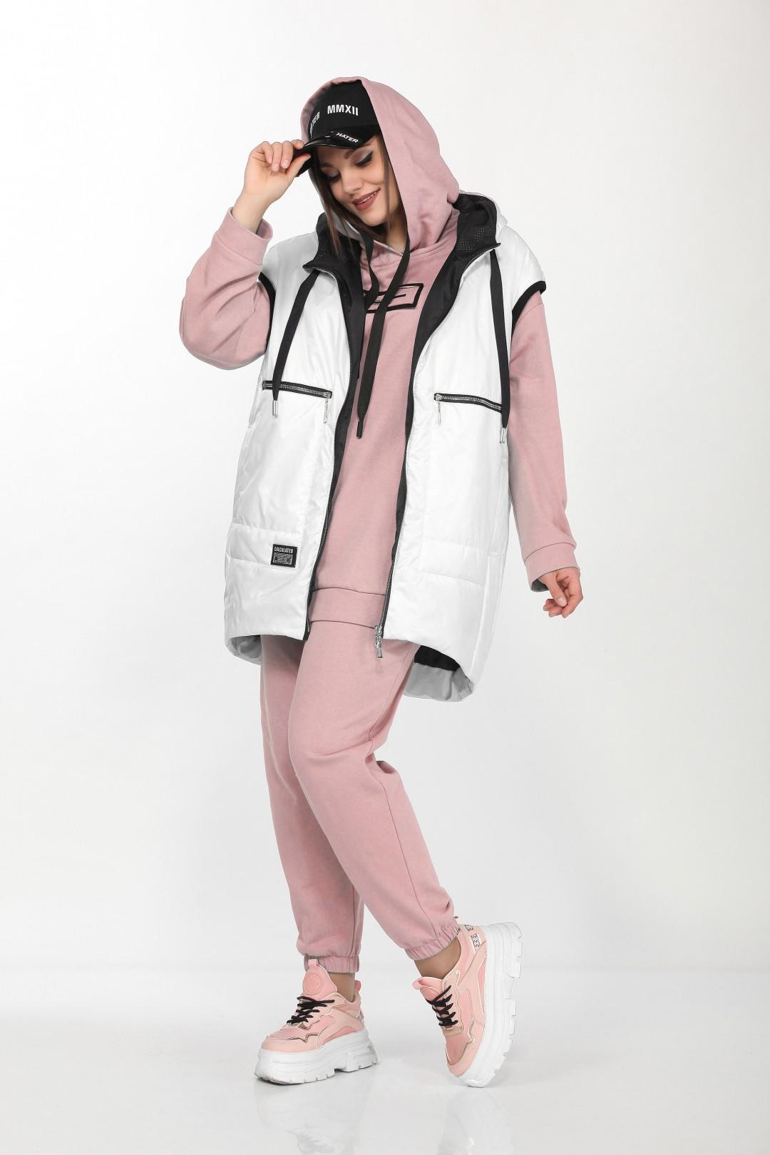 4002 белый+розовый