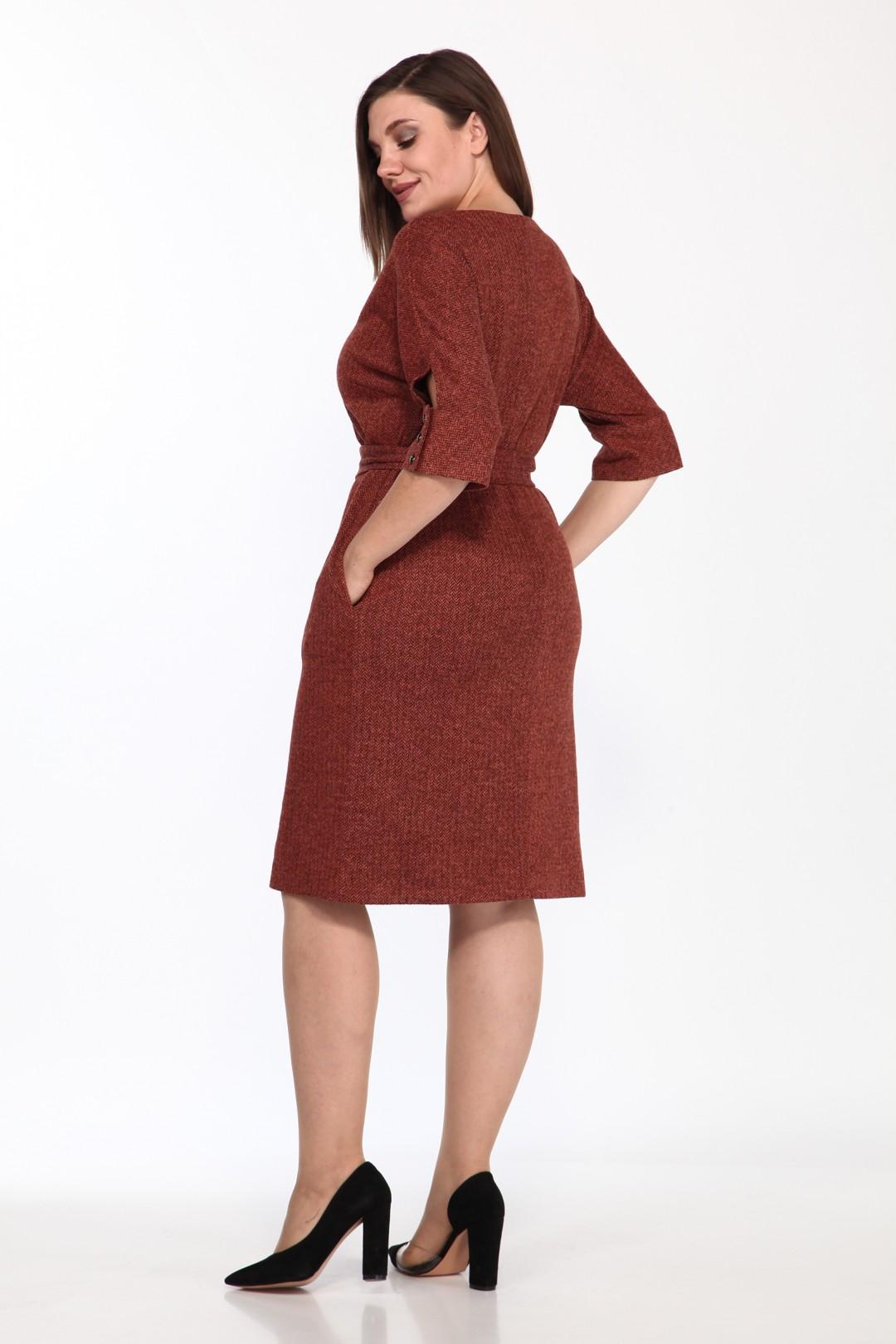 Платье LadyStyleClassic 1525/6 террактовый
