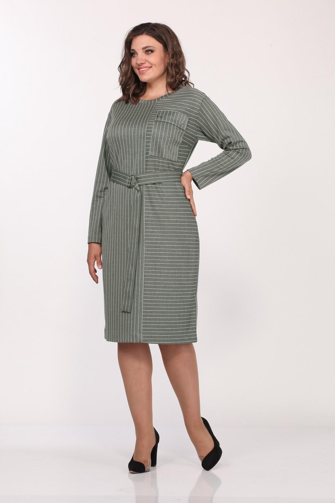 Платье LadyStyleClassic 2146/2 хаки