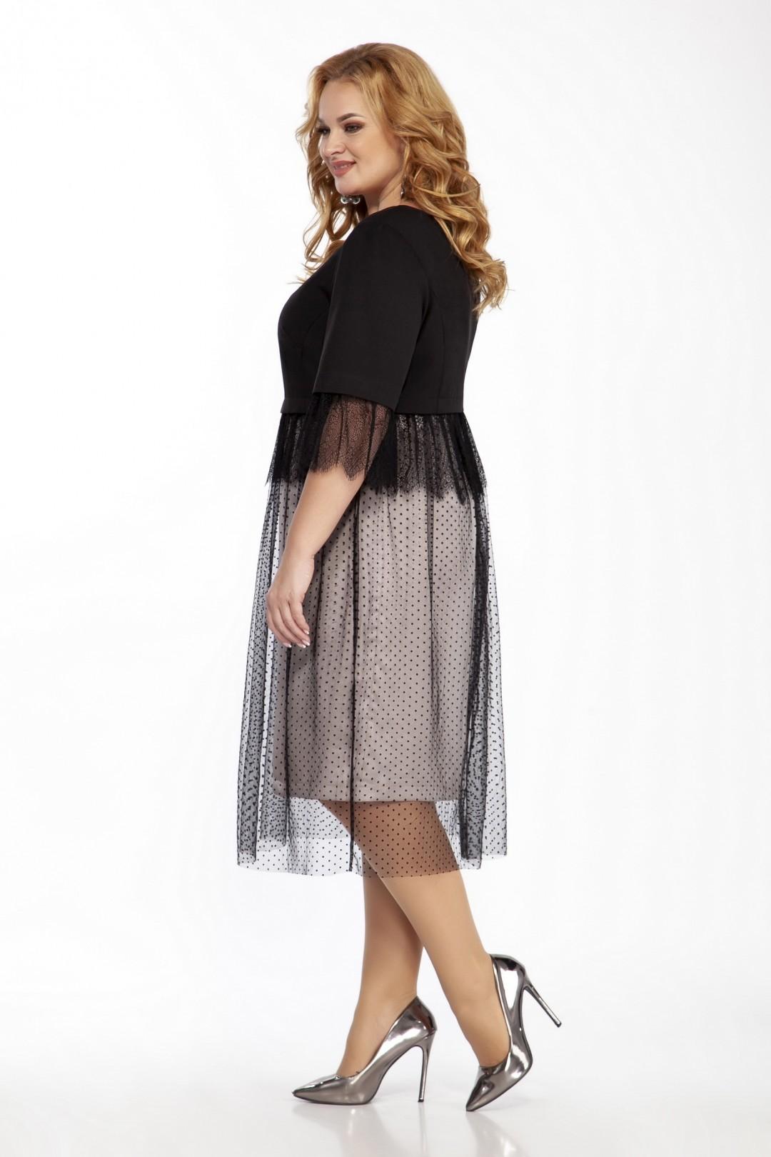 Платье LaKona 1403 черный с бежевым