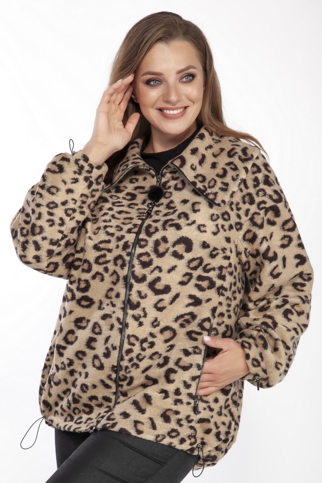 Полупальто LaKona 1410 леопард