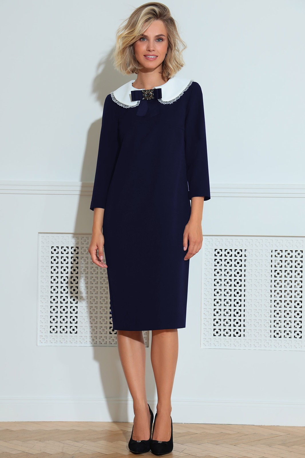 Платье LeNata 11214 синий