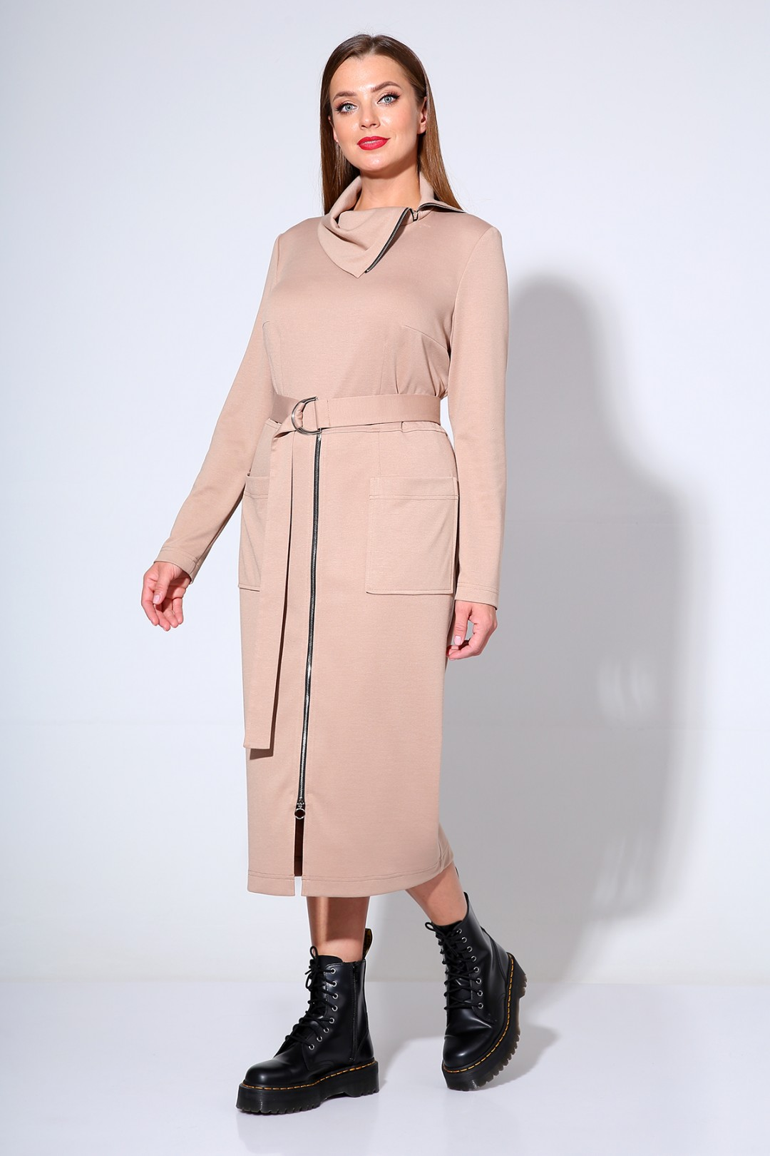 Платье Лиона-Стиль 670 бежевый