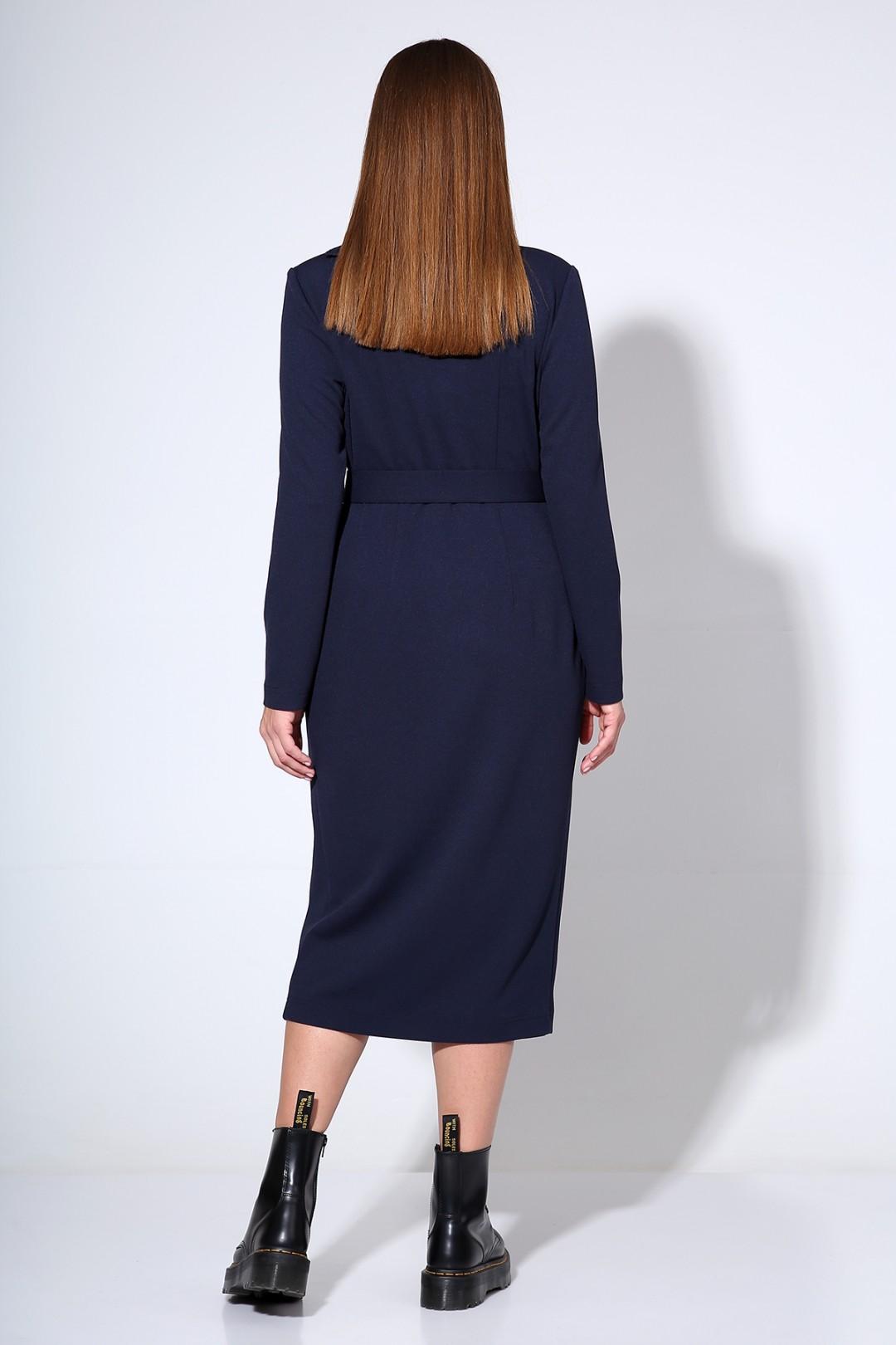 Платье Лиона-Стиль 670 темно-синий