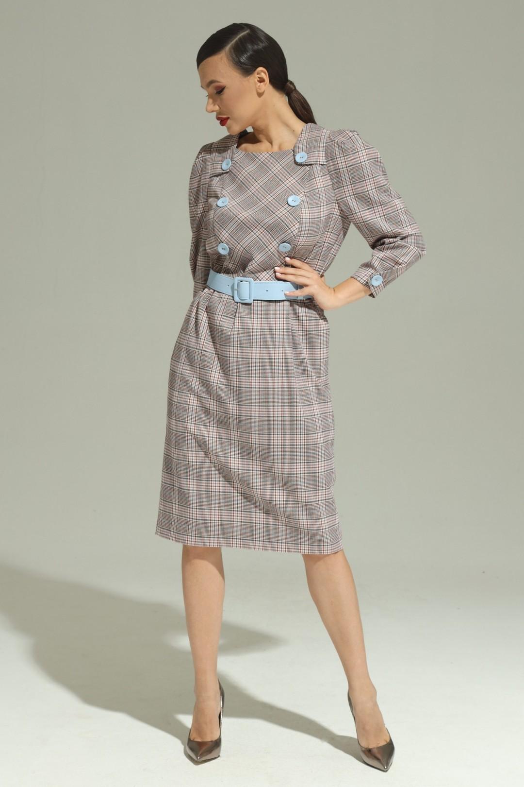 Платье Магия Моды 1978 клетка