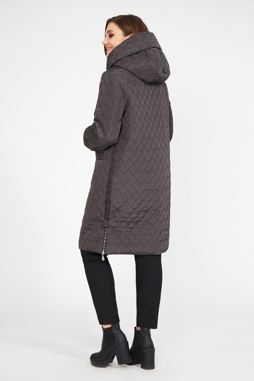 Пальто Магия Стиля 2256 коричневый светлый- узор клетка