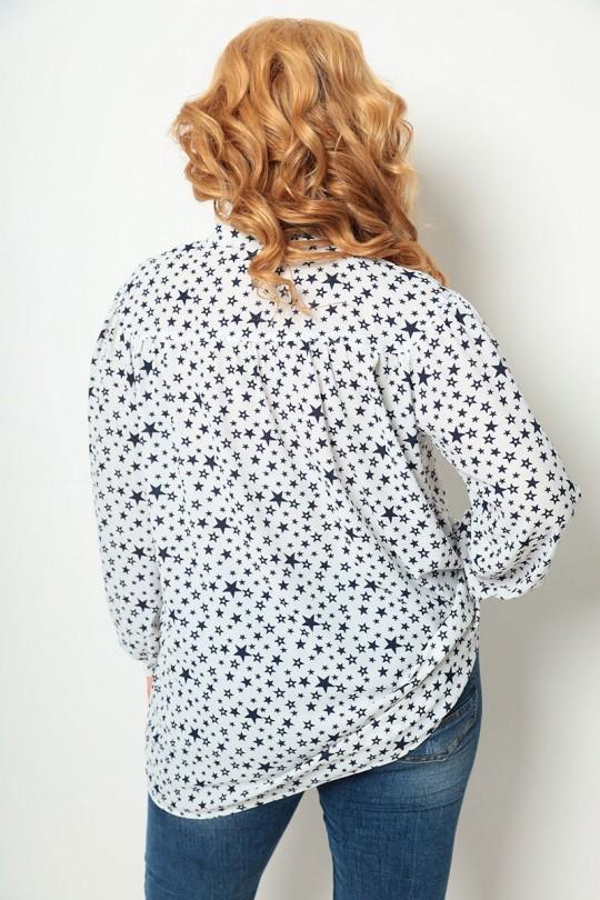 Блузка Мишель Шик 760 белый, синий
