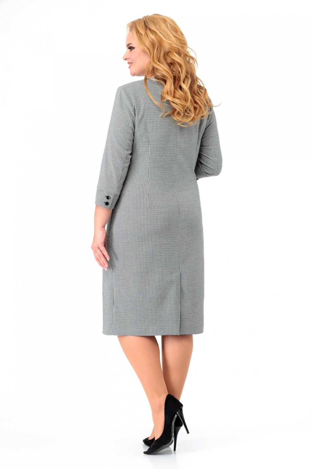 Платье МишельСтиль 980 серо-зеленый