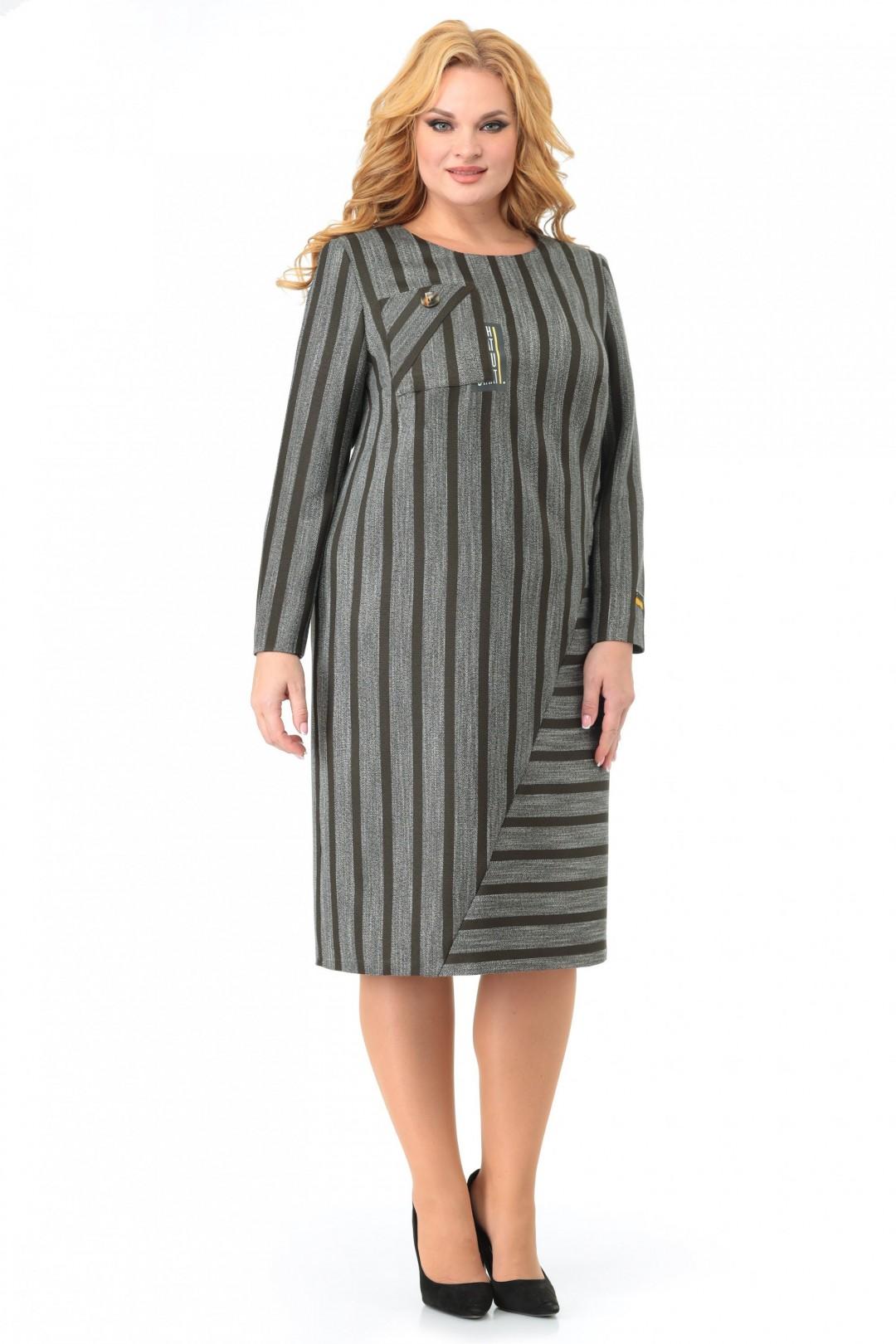 Платье МишельСтиль 997 хаки