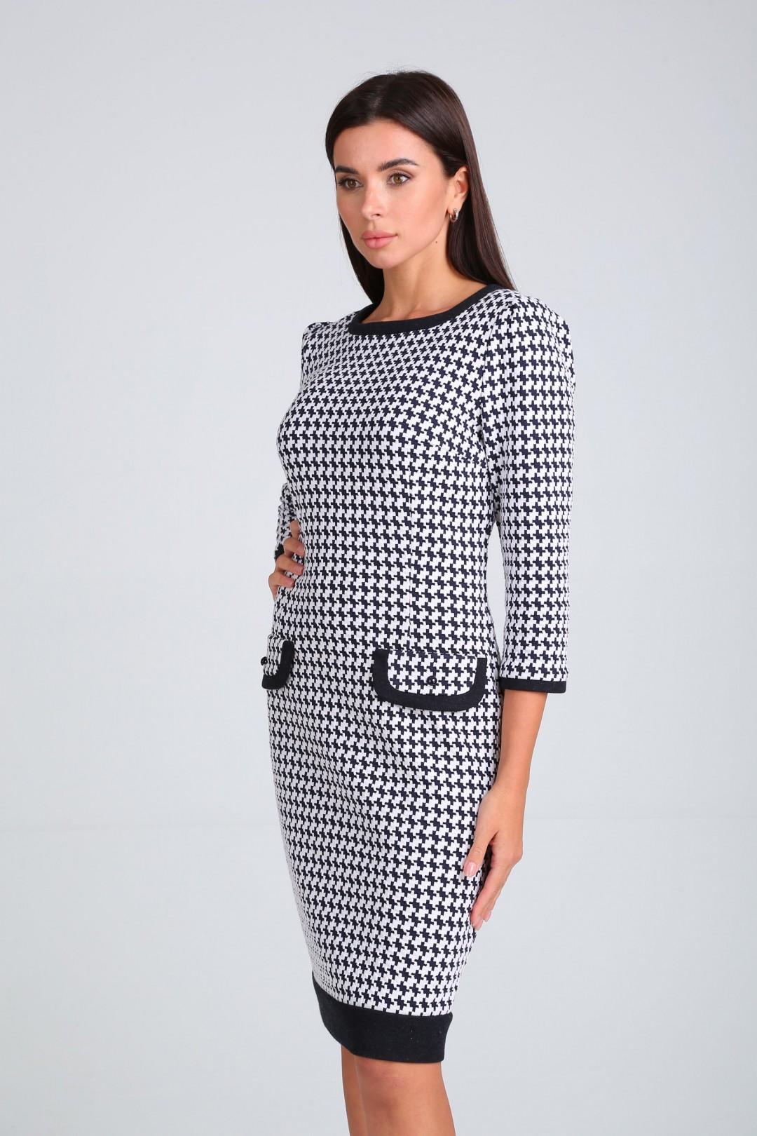 Платье Мода-Версаль 1487 черно-белый