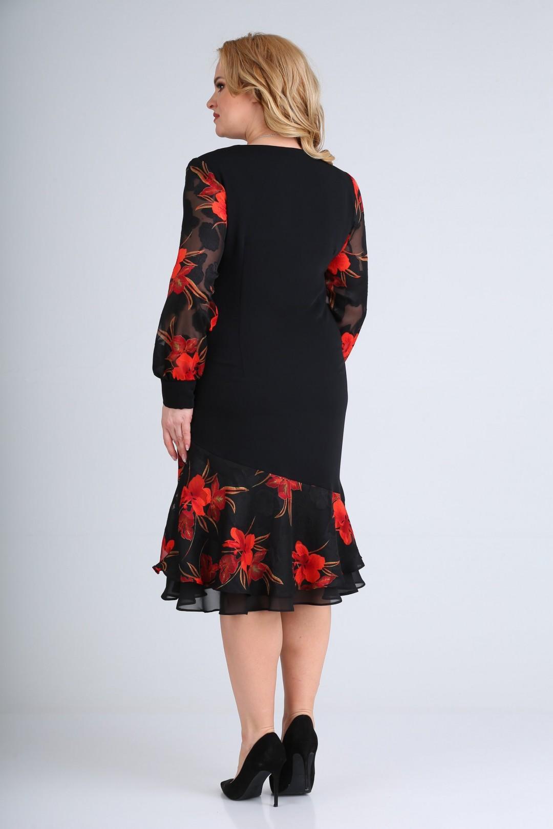 Платье Мода-Версаль 2211 черный красный