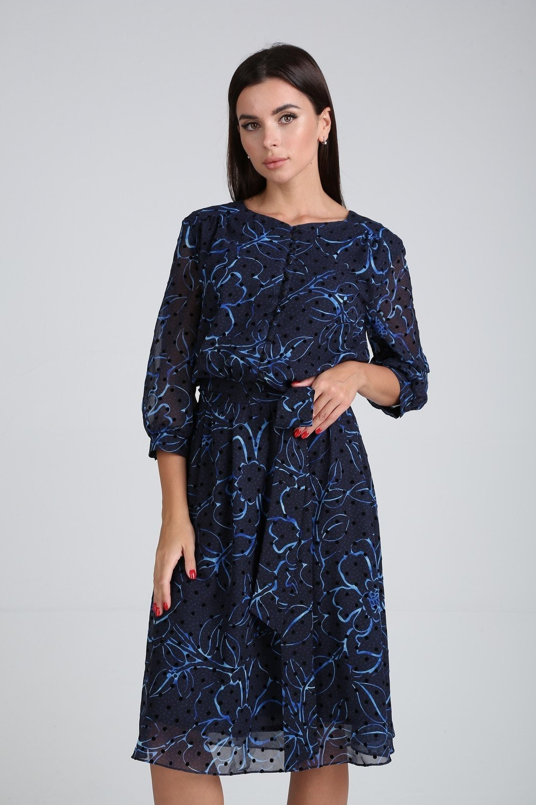Платье Мода-Версаль 2318 синий