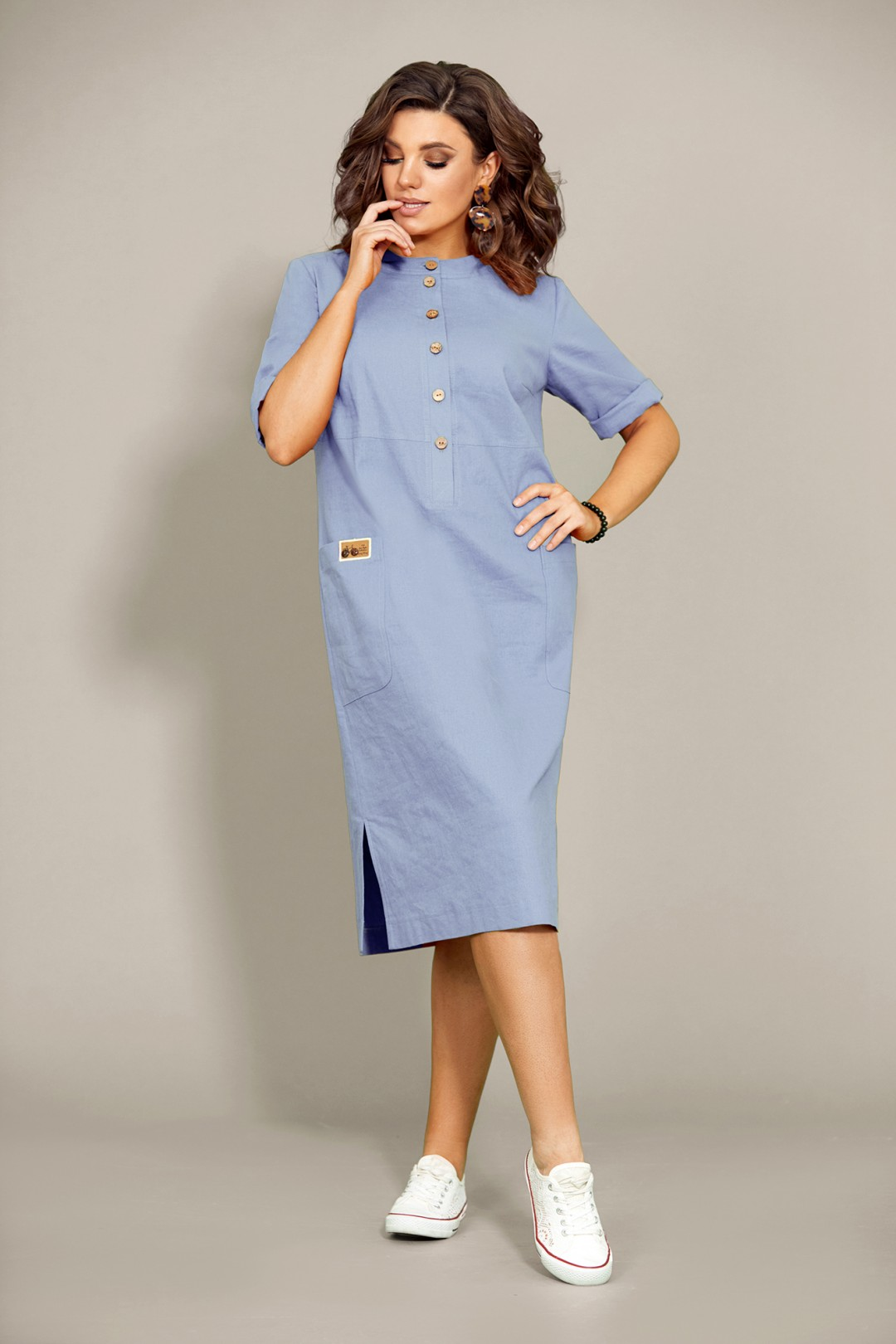 Платье Мублиз 435 голубой