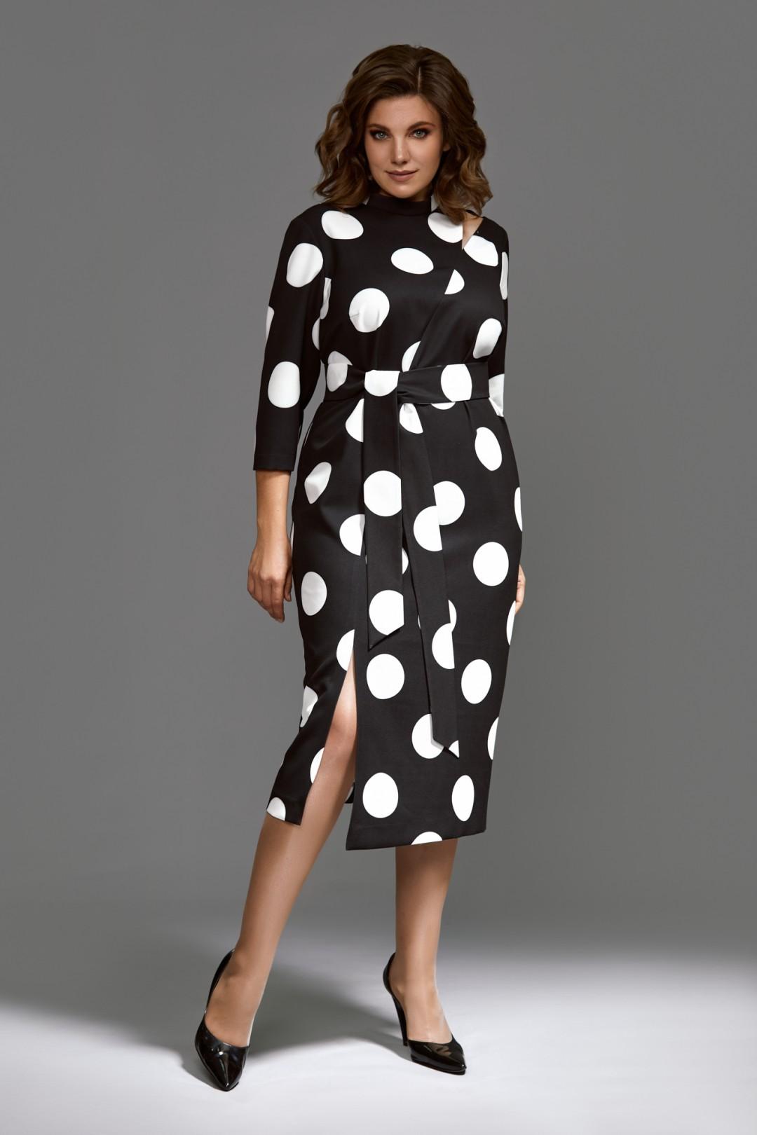 Платье Мублиз 593 черно-белый